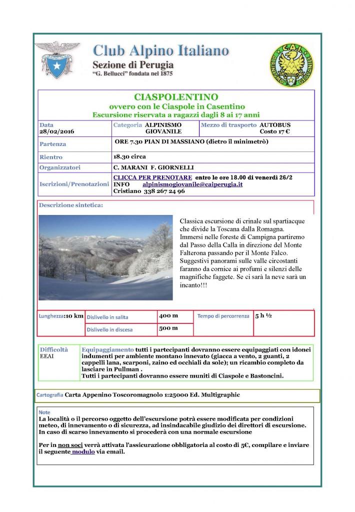 20150228 AG Ciaspolata in Casentino