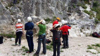 ragazzi alpinismo giovanile arrampicata falesia
