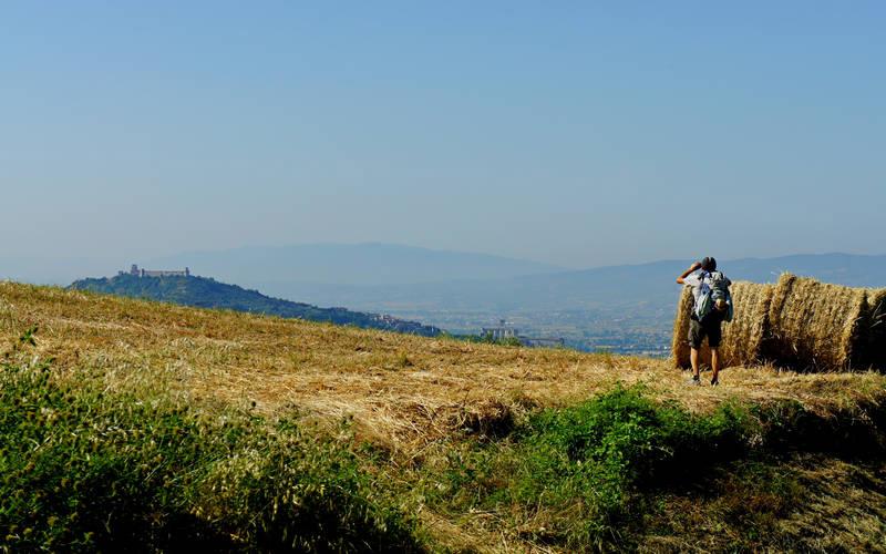 Via di Francesco in vista di Assisi